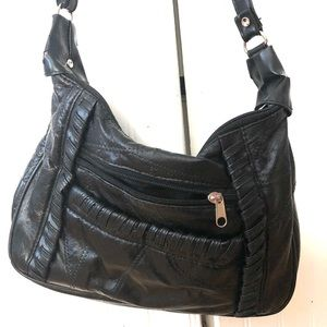 Vintage Side Body or Crossbody Leather Purse